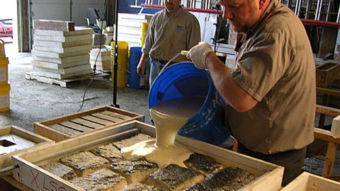 使用Vytaflex模具橡胶制作混凝土文化石模具