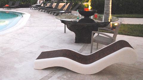 使用Rebound25硅胶制作GFRC睡椅