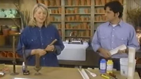 Martha使用OOMOO制作仿木蜡烛