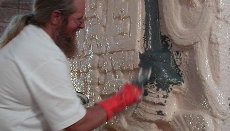 Brush-On 40模具橡胶在圣地亚哥巴尔博亚公园修复中的应用