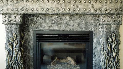 将创意星火添加到壁炉周围
