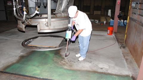 EZ-Spray 有机硅20 地面涂层应用